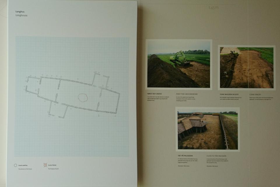 Иллюстрация камней и следов от деревянных домов