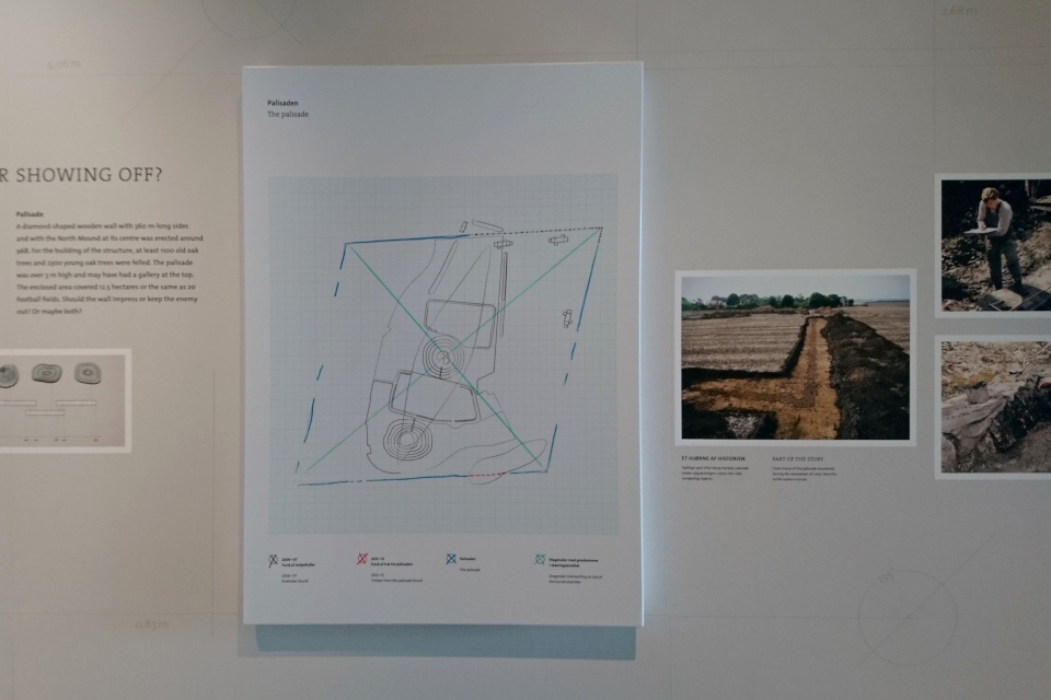 Иллюстрация археологического комплекса с частоколом