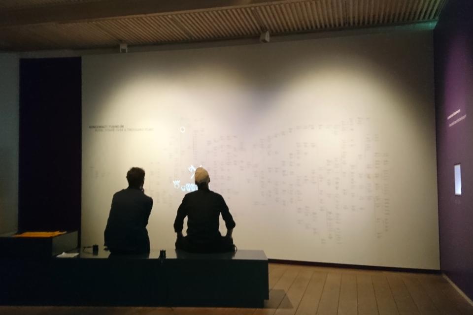 """Череда королей Дании - схема, музей """"Дом королей викингов"""", г. Еллинг"""