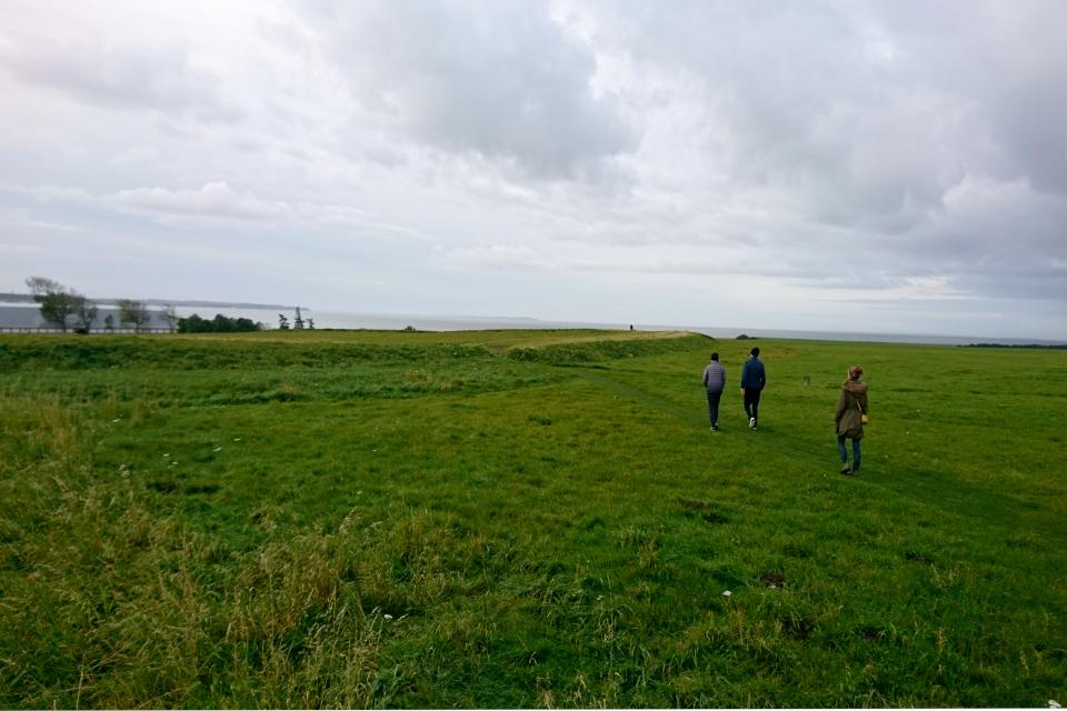 Место возле крепости Аггерсборг, где в конце августа проводятся фестивали викингов