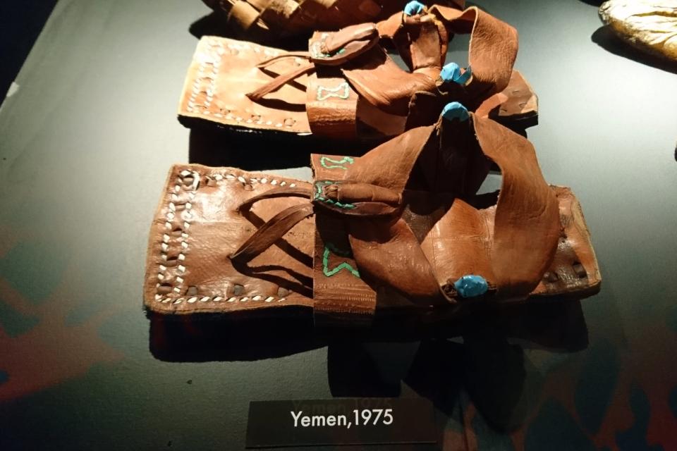 Сандали, которые Сёрен Туксен приобрел в Йемен в 1975 г.