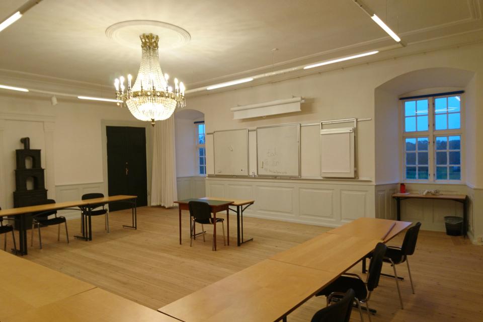 Рыцарский зал (дат. riddersalen) используется для презентаций, монастырь Витскол, Дания