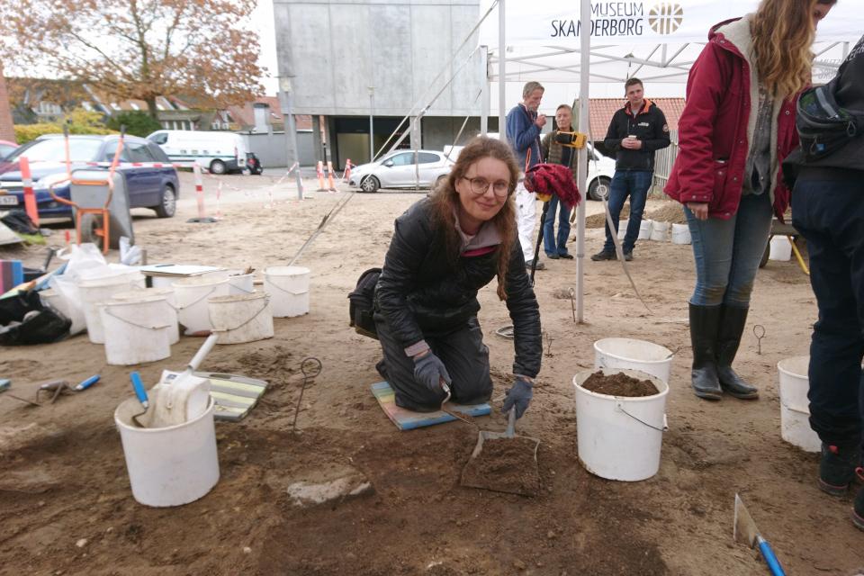 Открытая археология в Скандерборге, Munkekroen - раскопки. Фото 17 окт. 2019