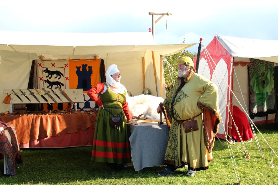 Торговец. Средневековый фестиваль в монастыре Витскол 12окт. 2019, Дания