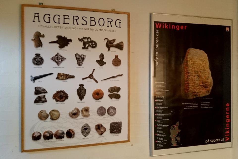 Плакат с примерами находок, сделанных на месте археологических раскопок крепости