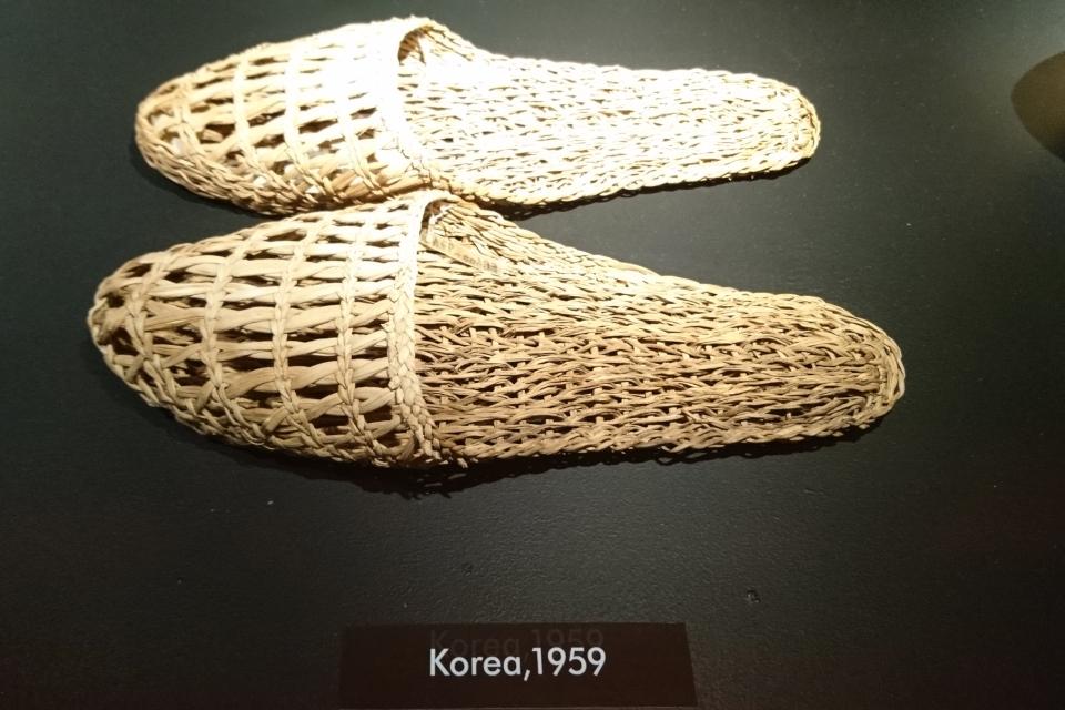 Плетеные сандали из Кореи (1955 г.)