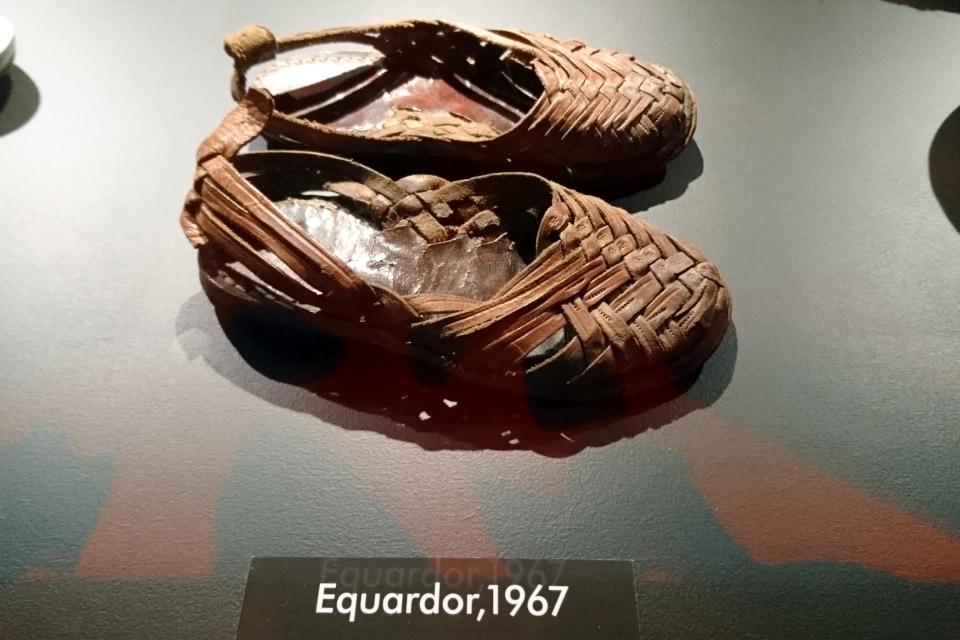 Сандали из Эквадора, 1967 г. Фото из музея Мосгорд, г. Хойбьяу / Højbjerg, Дания, 2 окт. 2019