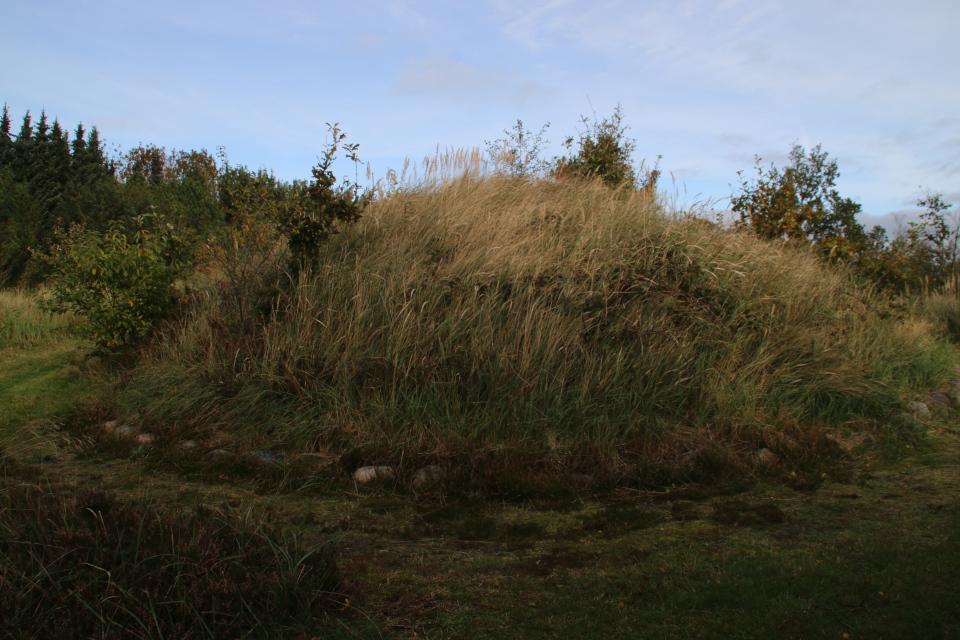 Курган, укрытый каменными рядами