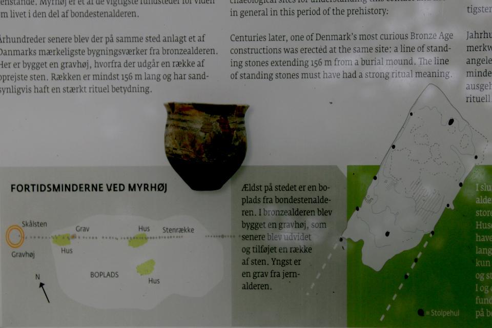 Схема древнего поселения с информационного щита возле кургана Мурхой