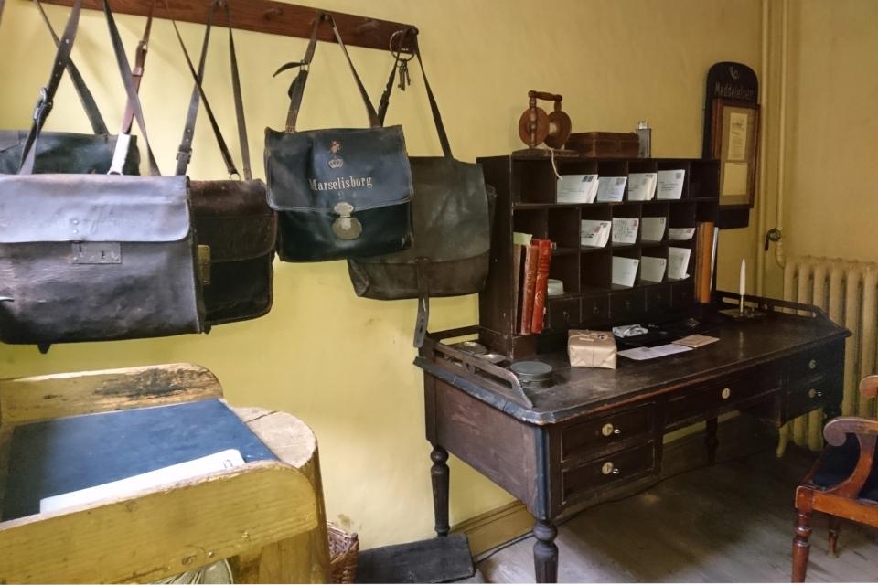 Сумки почтальонов начала 1900 годов, музей Старый Город, Дания