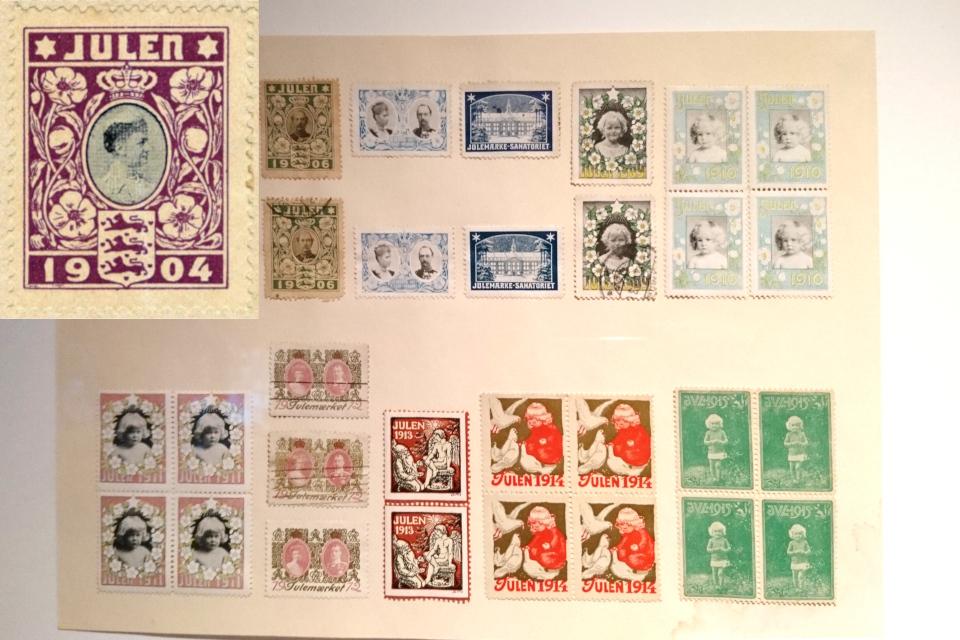 Первые рождественские почтово-благотворительные марки в Дании