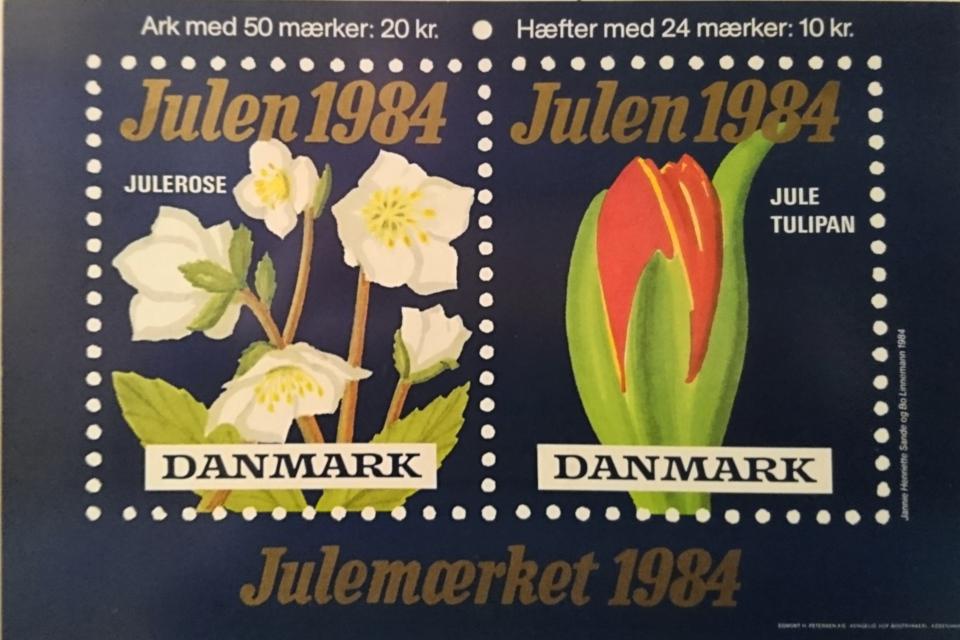 Рождественские почтово-благотворительные марки в Дании 1974