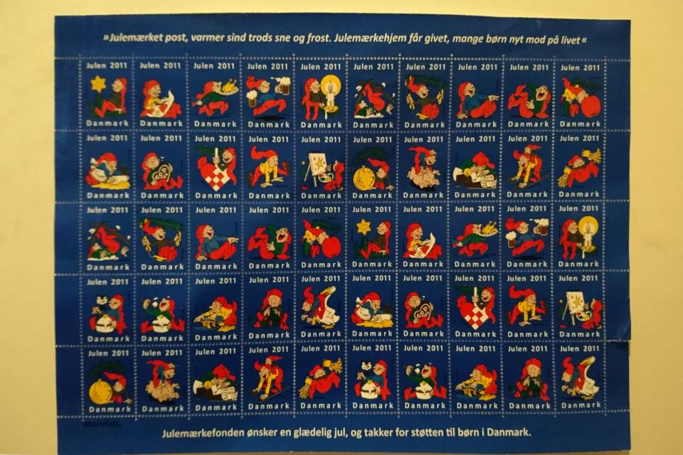 Ниссе - датские домовые на рождественских марках 2011 года, Дания