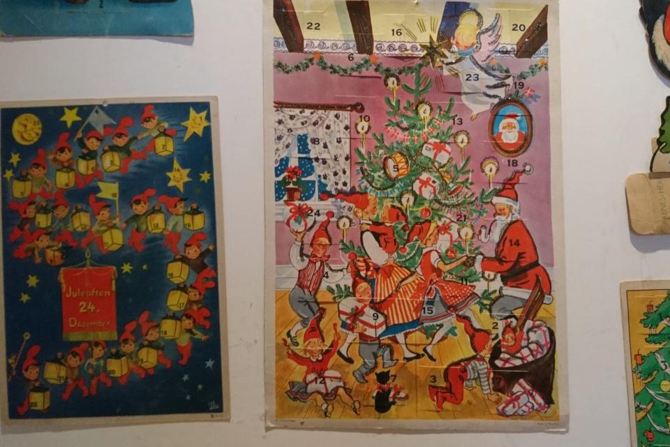 Рождественские календари 60 х годов в музее Рождества Дании