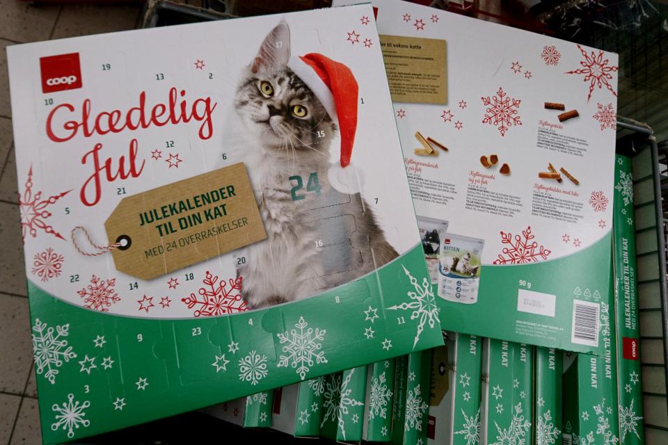 Рождественский календарь для кошек, который продает датский супермаркет COOP