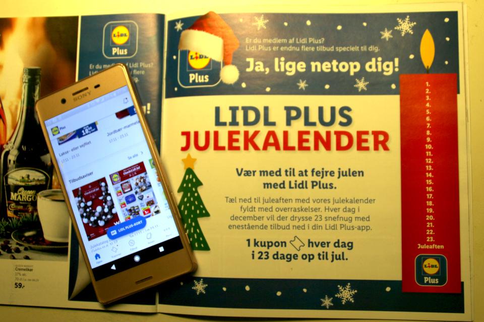 Реклама электронного рождественского скретч-календаря супермаркета