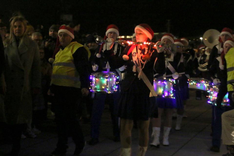 Начало рождественского парада в порту г. Орхус / Aarhus, Дания