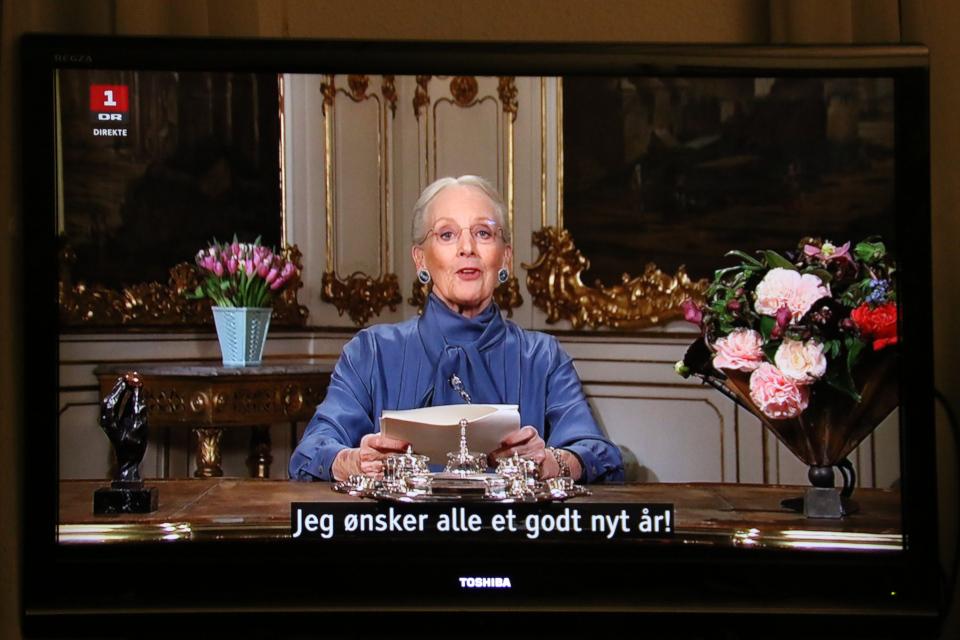 Королева Маргрете II желает всем хорошего Нового Года