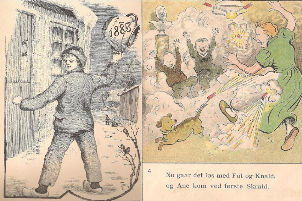 Празднование Нового года в 1885 и 1899 годах, Дания