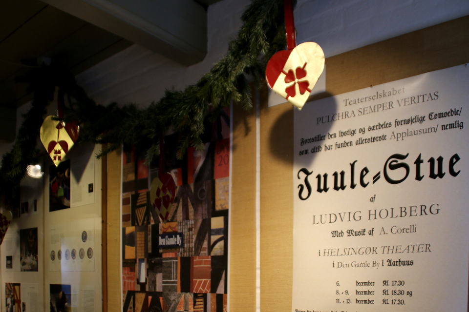 Рождественские плетеные сердечки, украшающие стену, Дания