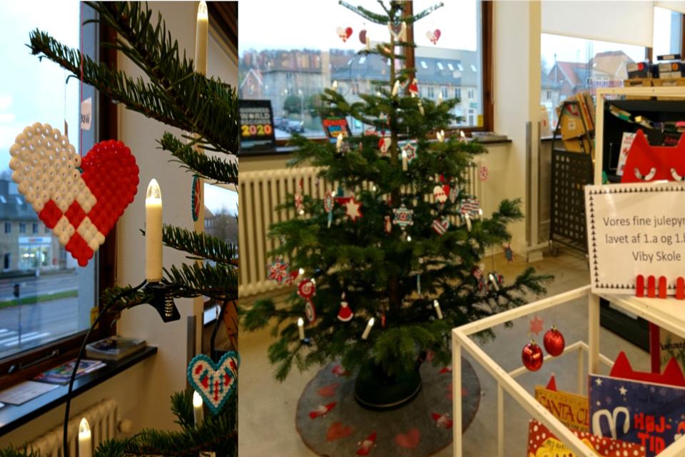 Рождественская пихта с украшениями из термомозаики