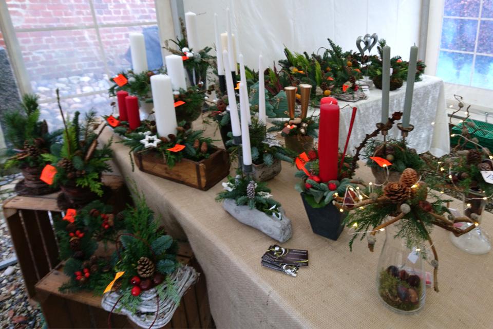 Рождественские композиции из натурального материала и со свечами